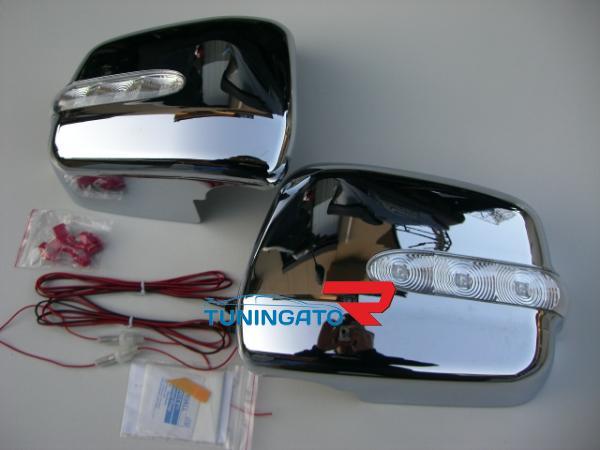 Хромированые накладки на боковые зеркала с поворотником для TOYOTA Harrier. Продажа тюнинг аксессуаров и запчастей для авто. Онл